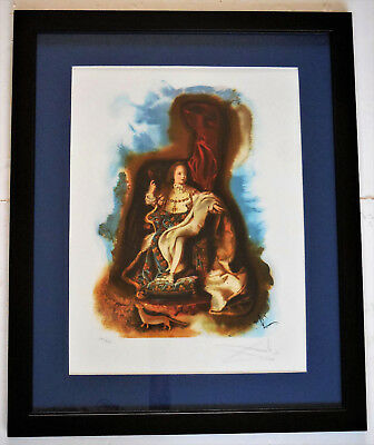 """Salvador Dali """"The Little Prince"""" Hand Signed Framed Limited Edition Lithograph"""