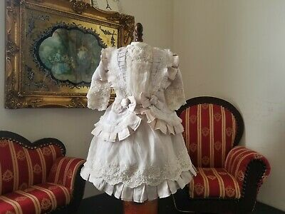 """Vintage French victorian dress 15"""" for antique bisque German doll 24-26"""""""