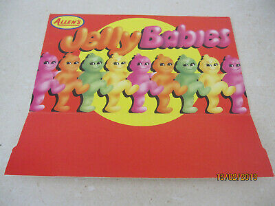 Allens jelly babies cardboard sign