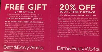 Bath and Body Works Coupon Off Online 20% Purchase & Gift March 11 - April 14