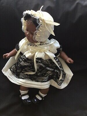 Reborn Doll Dress Set Cream/black Lace 16-17""