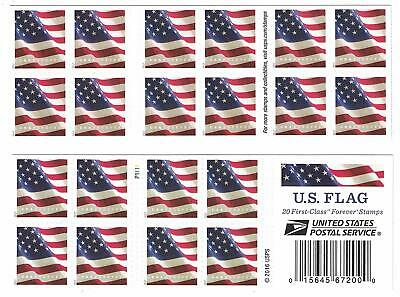 USPS US Flag 2017 Forever Stamps - Book of 20