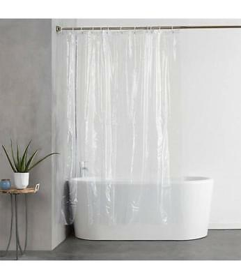 """SOLID 70"""" x 72"""" BATHROOM SHOWER CURTAIN VINYL PLASTIC MAGNETIC LINER CLEAR"""