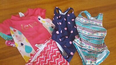3 girl bathers/swimmers, size 1