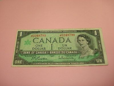 1967 - Bank of Canada $1 note - one dollar bill - JP3348790