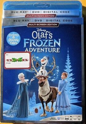 NEW Disney Olafs Frozen Adventure Blu-ray & DVD NO DIGITAL BLUERAY bluray movie