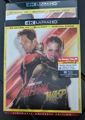 New Ant-Man and the wasp LENTICULAR SLIP 4k ULTRA HD & Blu-ray NO DIGITAL movie