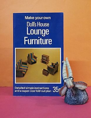 Andrew Calder: Make Your Own Doll's House Lounge Furniture/crafts/woodwork/1970s