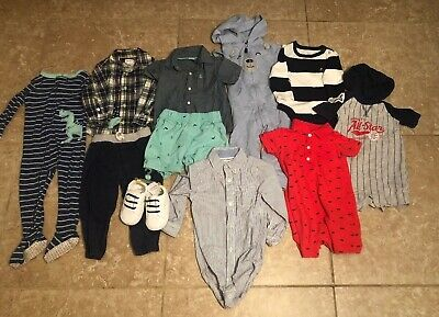 Lot Of 18 Month Baby Boy Spring Summer Clothes 11 Pieces Gap And Carter's