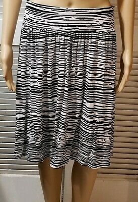 ea11e17b0 LANE BRYANT SIZE 22 24 Black & White Maxi Skirt Slits on Sides ...