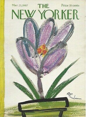 COVER ONLY ~ The New Yorker magazine ~ March 25 1967 ~ BIRNBAUM ~ Crocus