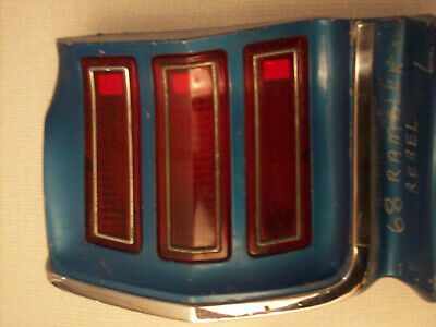 1968 Rambler Rebel LH tail light assembly, AMC quarter panel extension