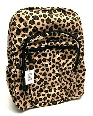 4c2cc244d305 Vera Bradley Lighten Up Campus Backpack Leopard Cheetah Animal Print Black  Brown