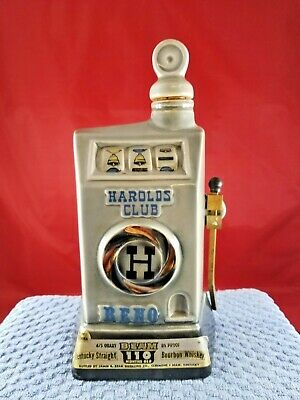 Jim Beam Harolds Club Decanter  Lot(102-20) Collectible Bottle Casino Whiskey