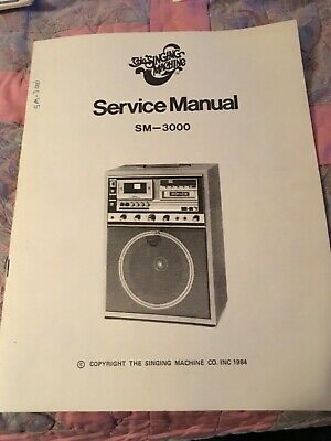 The Singing Machine Service Manual SM - 3000 good condition
