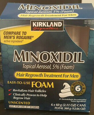 Kirkland Hair Regrowth Treatment Minoxidil Foam for Men - 6 Months Supply - NEW!