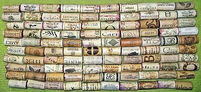 100 Natural Used Wine Corks, No Synthetic, No Champagne — Free US Shipping