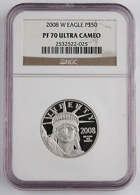 2008 W $50 1/2 Oz PLATINUM American EAGLE Proof Coin NGC PF70 Ultra Cameo KEY