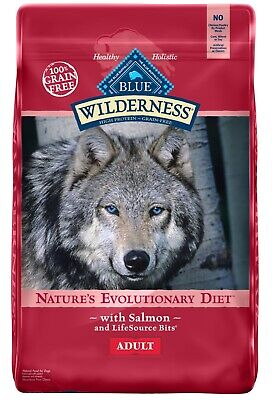 Blue Buffalo Wilderness, Grain Free, Natural Adult Dry Dog Food, Salmon ~ 24 lb