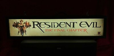 """Resident Evil: The Final Chapter (2017) Large Movie Theater Mylar 5"""" X 25"""""""