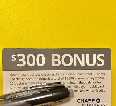Chase Bonus 1Coupon $300 for Business checking(NO direct deposit req)