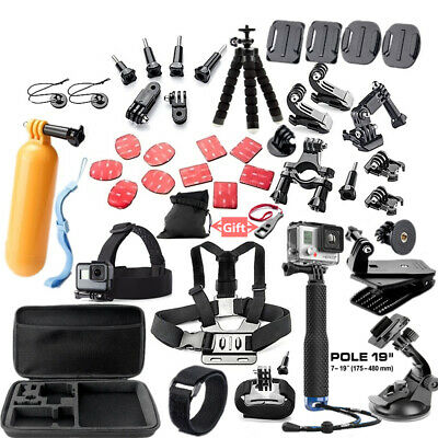 45 In 1 Sports Camera Accessories Cam Tools For Go Pro Hero 5 4 3 2 1 SJCAM I8E9