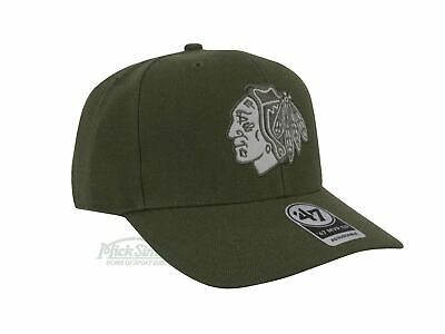 NEW Chicago Blackhawks MVP Cap by 47 Brand - Sandlewood Suede