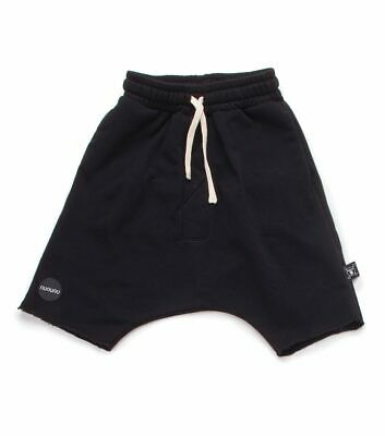 Nununu Size 8-9Y Black Unisex Light Weight Low Crotch Shorts 100% Cotton