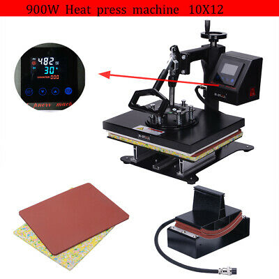 2 in 1 Heat Press Machine Swing Away Digital Sublimation T-shirt Mug Plate Hat