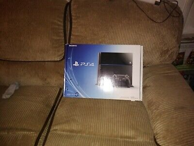 PS4 Box, Sony PlayStation 4 500GB Jet Black Console Box ONLY with Inserts