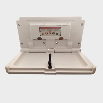 Wall Mounted White Baby Changing Table Station Commercial Bathroom