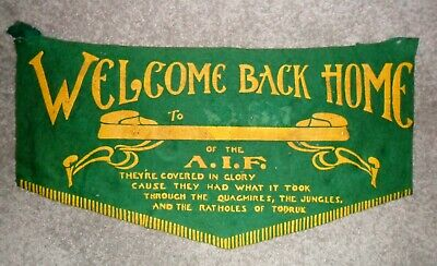 """Ww11 A.i.f. """"rats Of Tobruk"""" Welcome Home Banner"""