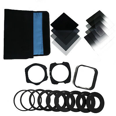 Square Neutral Density ND 2 4 8 16 Filter Kit for Cokin P+Holder+Adapter Ring