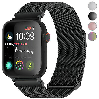 For Apple Watch Band 44/42mm 38/40mm Milanese iWatch Strap Bands Series 4 3 2 1