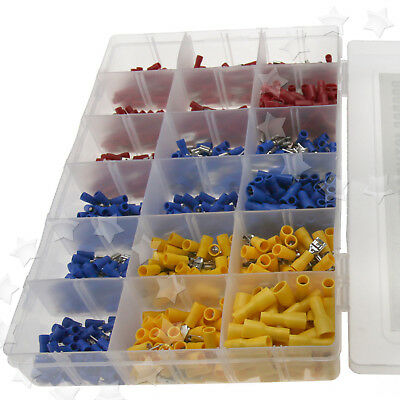 900PCS Crimp Connector Insulated Assorted Electrical Wire Terminals Spade Kit