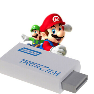 White WII to HDMI 1080 Adapter Supports all Wii Display Modes