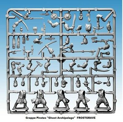 "FROSTGRAVE Grappe Pirates ""Ghost Archipelago"" Figurines 28mm plastique"
