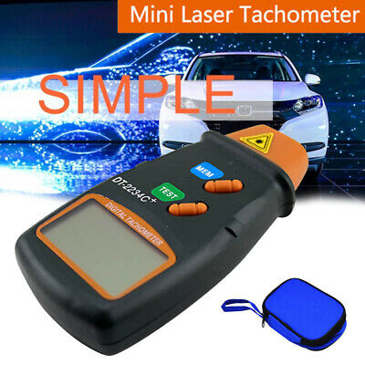LCD Handheld Photo Laser Tachometer 2.5-99,999RPM Non Contact Speedometer Motors