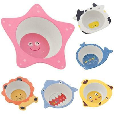 Bamboo Fiber Bowls Cute Cartoon Baby Dishes Baby Feeding Tableware Children Infa