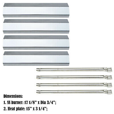 Replacement Amana AM26LP, SF308LP Gas Barbecue Grill Burners&Heat Plates- 4 Pack