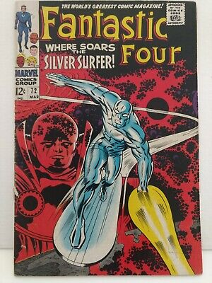 Fantastic Four - Issue #72 - Marvel 1968 - VG/Fine - Silver Surfer