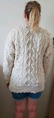 🍭 Genuine VINTAGE JUMPER. Hand knit Cable + Different Patterns Possible cotton
