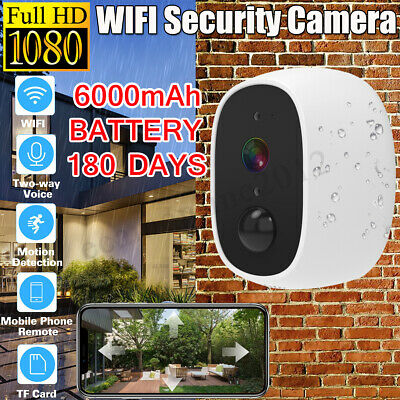 1080P Wifi IP Security Camera Built-in 6000mA Battery PIR Alarm Waterproof Lot
