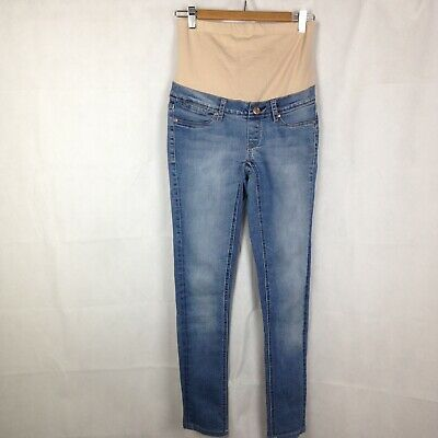 JEANSWEST Womens Maternity Jeans Size 8 , Super Skinny Washed Denim Jeans