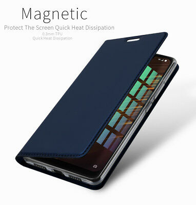 UK For Xiaomi Pocophone F1 PU Leather Flip Case Wallet Smart Magnetic Skin Cover