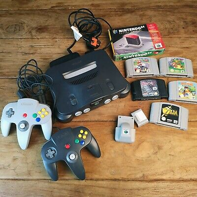 Nintendo 64 Grey Console (PAL) with games bundle Zelda, Mario kart, expansion