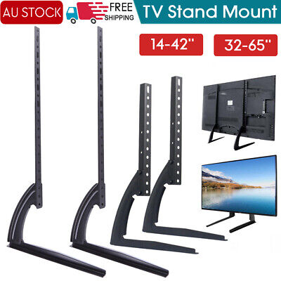 "Universal Table Top TV Stand Leg Mount LED LCD Flat TV Screen 14-65"" For Sony LG"