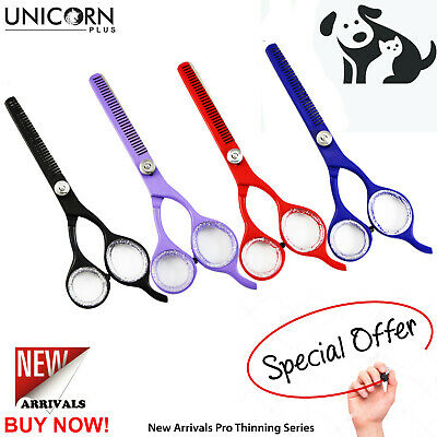 Professional Dog Cat Pet Grooming Thinning Scissors Trimming Shears in 4Clour UK