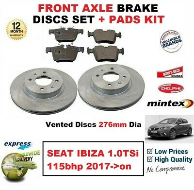 Brake Discs Axle Set 283mm Vented Citroën C3 1.6 16V Front Delphi Brake Pads