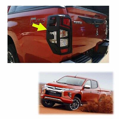 Fits Mitsubishi L200 Triton MQ 4x2 2019 - 20 Tail Lamp Lights Cover Matte Black